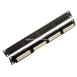 كبل UTP (كبل مزدوج مجدول غير محمي) من نوع 24 منفذٍ/48 6 لوحة التصحيح