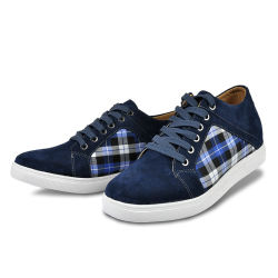 우연한 Height Increase Elevator Shoes Suede Leather Get Taller 6cm
