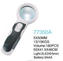 Destacável de lentes 5X50mm 2 Vidro de LED de leitura