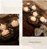 Bougeoir en verre transparent flottant Wedding Accueil dîner romantique de décoration de table