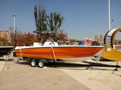 27ft T-Top deportivo barco de fibra de vidrio