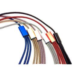 Datacable 3 In1 Nylon Gevlechte Kabel USB voor iPhone Andrews
