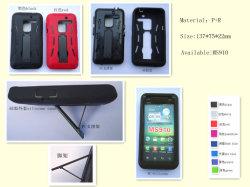 3 в 1 материалов ПК + TPR + силикон крышка телефона, чехол для iPhone 5 (SI-01)
