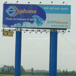 La preuve de l'eau Pole Prisma de panneaux publicitaires Lightbox