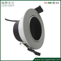 Fiáveis e uma boa montagem embutida de cores Preto Branco Round Refletor LED de 5 W