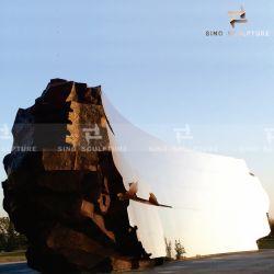 Espejo curvo escultura de la fachada de acero inoxidable para la decoración exterior