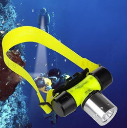 Natación buceo submarinismo resistente al agua de la luz de linterna de cabeza linterna Faro Submarino Buceador Scuba lámpara de las luces de seguridad
