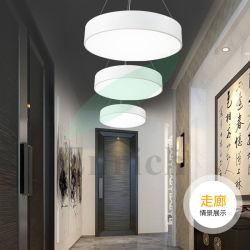 Алюминий раунда тени LED подвесной светильник современное здание белого цвета висел Светильник рассеянного света в комнате