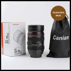 Kreative SLR Kamera Objektiv Becher Edelstahl Kaffee Wasserflasche