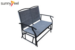 Mobili da Giardino esterni sedia a dondolo Textilene