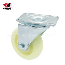 Roulements à billes double Medium Heavy Duty Roulette industrielle PP, PG, fixe en PVC// frein de pivotement des roues pivotantes