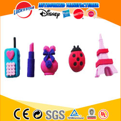 Children ToyのためのTPR 3D Small Novelty Stationery Items Ladybugs Erasers Eiffel Tower Toys