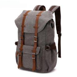 Рекламные моды Canvas плечо мешок USB мужчин в рюкзак сумка для переноски