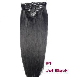 """آلة """"صنع الشعر ريمي"""" بقياس 16 بوصة -24 بوصة في البرازيل 100% تمديدات الشعر البشرية بمشبك الشعر 16 بوصة"""