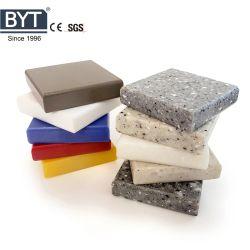 ألواح من الحجر الصلب تشبه أكريليك الرخامي ذات أسطح صلبة من ألواح من الحجر الصناعي لطاولة السقف ولوحة الحائط بجودة جيدة