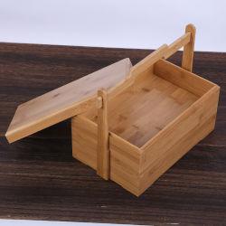 공장 맞춤형 휴대용 대나무 수저 세트 소풍을 위한 보관 상자
