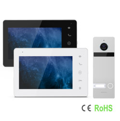 IP/WiFi 2 Fios HD tocar no botão Sistema de Intercomunicador de Vídeo Inteligente Doorphone