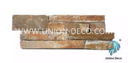 Ausgezeichneter beige Schiefer-Wand-Umhüllung-Kleber-Stein