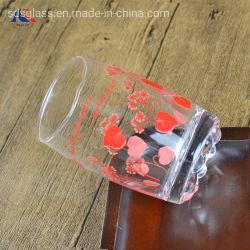 Utilização diária da capa impressa de flores de vidro potável barata