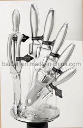 9pcs forjado de acero inoxidable Mango Juego de cuchillos