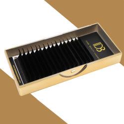 Groothandel Factory Handmade Custom Box Flat synthetisch mat Zwart Soft Private Label Lash Eyelash Extension Faux Mink Silk individuele wimpers