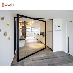 Populaires simples en aluminium de plein air de l'intérieur de porte en verre de pivotement de la charnière