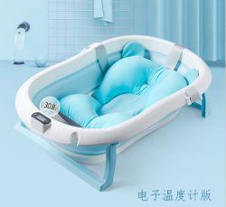 O sensor de temperatura banheira de bebé Banheira Dobrável bebê domésticos sentado deitado grande filho recém-nascido produtos cabrito
