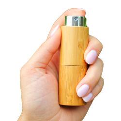 Spray de bambu vaso de perfume pequena garrafa de vidro especial Embalagem Cosméticos 10ml
