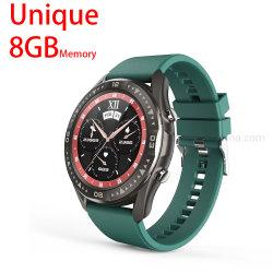 """Novo 1.28"""" toda a tela redonda IP67 à prova de Monitor de Ritmo Cardíaco Vigilância inteligente Rastreador Fitness Bracelete Smartwatch para Homens Mulheres"""
