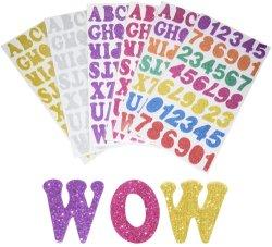 글리터 폼 자가 접착식 스티커 키즈 공예 스크랩예약 예술 및 공예 카드를 장식하여 다양한 색상을 만듭니다