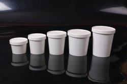 O logótipo de 8 oz 250ml retirada noodle bowl grande Copa do papel de sopa de aço inoxidável com tampa