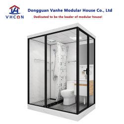 Complete sets prijzen Hotel Decoratie glazen deur draagbare eenheid Douche Luxe Living Modular Prefab Badkamer Pods met toilet