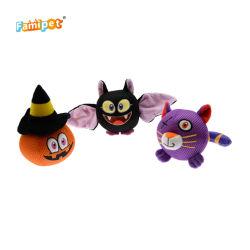 Halloween 2021 Malla Squeaky en forma de bola de animales de peluche suave Perro producto