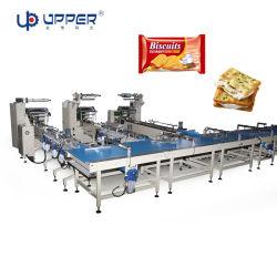 Gâteau à grande vitesse entièrement automatique avec bac Dumpling avec le bac dans le bac d'emballage alimentaire/machine de conditionnement Ligne d'équipement
