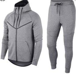 Los hombres Zip de chándal emparejador de prendas de vestir sudaderas con capucha ropa deportiva Ropa de Entrenamiento de Fitness