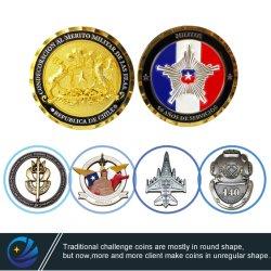 공장 맞춤형 금속 공예 3D 로고 소프트 에나멜 챌린지 코인 칠레 독일 헌병상 기념품 동전 프로모션 선물 (CO01)