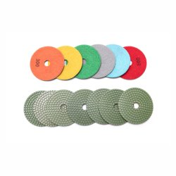Outils en diamant D100mm wet diamond Polishing Pads de la résine de granite