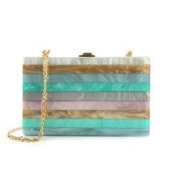 Neue Acrylspleißstelle-Streifen-Abend-Handtasche-Qualitätshandtaschen und -fonds