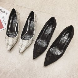 [بوينتي] إصبع قدم سيّدة [شوس] [كيتّن] [هيل] [وومن] كعوب منخفضة بالجملة لأنّ نسيج مربّع بناء أحذية