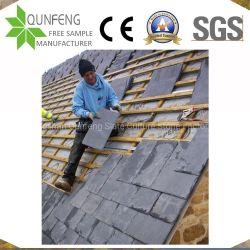 China-preiswerte natürliche leichte schwarze Schiefer-Dach-Steinfliese