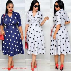 Parti Drsses africains Ventes en gros de belles femmes enduire des vêtements de l'été Prom robe maxi Dess jupes le travail de bureau
