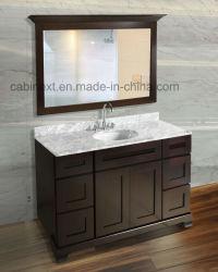 Цельная древесина туалетный столик в ванной комнате шкафы с стекло наружного зеркала заднего вида