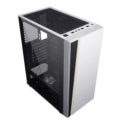 上部装飾 USB3.0 上に白色 ABS プラスチックの流れる RGB ベルト SSD CPU ファンゲーム PC 用ケース