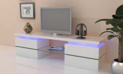 Houten TV-kast TV-standaard met LED-licht