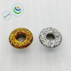 살포 금속 저속한 빛나는 분말 단 하나 Pin 밑바닥 놋쇠 단추 청바지 또는 셔츠 단추