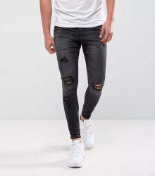 2020 uomini europei dei jeans di stile hanno strappato i jeans su ordinazione diritti afflitti degli uomini degli uomini dei jeans di stirata di modo dei jeans degli uomini all'ingrosso