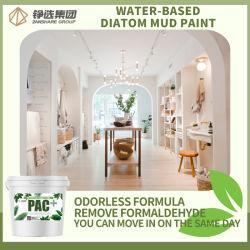 Natural ecológica diatomea barro muro interior pintura anti fisura pintura de látex de revestimientos de pared interior