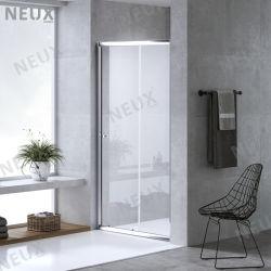 سعر رخيص من الألومنيوم الشكل منزلق الحمام زجاج باب الدش (SL-90/100/110/120)