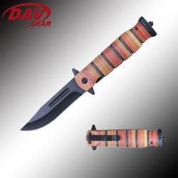 """5 """" lame en acier recouvert de noir Stainles Couteau de poche de pliage assisté par ressort EDC"""