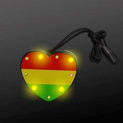 Blinkender Anhänger LED leuchten bunter Halskette